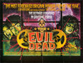"""Movie Posters:Horror, The Evil Dead (Palace Video, 1982). Folded, Overall Grade: Very Fine-. British Video Quad (28.75"""" X 38.25"""") SS, Photos (3) (... (Total: 20 Items)"""