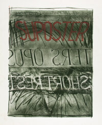 Bruce Nauman (b. 1941) Suposter, 1972 Lithograph and screenprint in colors on Arjomari paper 36 x 29-3/4 inches (91.4
