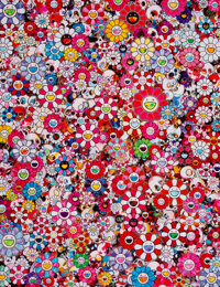 Takashi Murakami (b. 1962) Circus: Embrace Peace and Darkness within Thy Heart, 2013 Offset Lithograph in colors on sa...