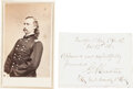 George Armstrong Custer: Signed Note and Carte de Visite