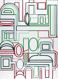 Jean Dewasne (1921-1999) Topo Plate I, V, and VI (three works), late 20th century Screenprints in colors on paper... (To...