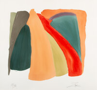 Larry Zox (1936-2006) Untitled, 1980 Pochoir in colors on paper 34-1/4 x 37 inches (87 x 94 cm) (sheet) Ed. 14/30 S