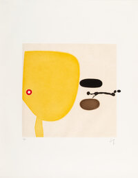 Victor Pasmore (1909-1998) Two Images, 1975 Etching with aquatint in colors on paper 34-1/2 x 26-1/2 inches (87.6 x 6