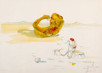 Salvador Dali (1904-1989) Desert Watch, from Time, 1976 Lithograph in colors on Arches paper 21 x 30 inches (53.3