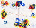 Prints & Multiples, Sam Francis (1923-1994). Web, 1972. Screenprint in colors on Fabriano Italia paper. 42-1/4 x 54-1/2 inches (107.3 x 138....