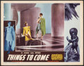 """Movie Posters:Science Fiction, Things to Come (Film Classics, R-1947). Very Fine-. Lobby Card (11"""" X 14""""). Science Fiction.. ..."""