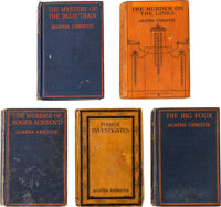 Agatha Christie. Group of Five First Editions. London: John Lane [and:] W. Collins Sons, [1923-1928]