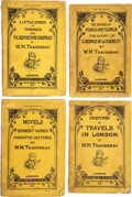 Books:Literature Pre-1900, W. M Thackeray. Group of Five Early Thackeray titles, including complete first issue of The Virginians. London: ... (Total: 5 )