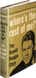 Books:Signed Editions, Ronald Reagan, Richard G. Hubler. Where's the Rest of Me? New York: Duell, Sloan & Pearce, [1965]. First edition, st...