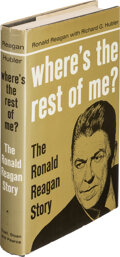 Books:Signed Editions, Ronald Reagan, Richard G. Hubler. Where's the Rest of Me? New York: Duell, Sloan & Pearce, [1965]. Fourth printing, ...