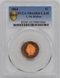 1864 CA Proof Indian Cents PCGS PR65 L On Ribbo...(PCGS# 82281)