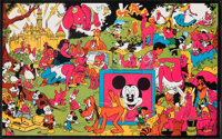 """Disneyland Memorial Orgy (Late 1960s). Rolled, Very Fine. Head Shop Poster (17.75"""" X 28.25"""") & Black &..."""