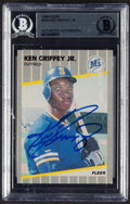 Baseball Cards:Singles (1970-Now), Signed 1989 Fleer Ken Griffey Jr. #548 BAS Authentic Autograph....