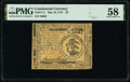 Continental Currency May 10, 1775 $3 PMG Choice About Unc 58