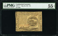 Continental Currency May 10, 1775 $4 PMG About Uncirculated 55 EPQ
