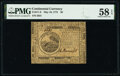 Colonial Notes:Continental Congress Issues, Continental Currency May 10, 1775 $6 PMG Choice About Unc 58 EPQ.. ...