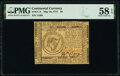 Colonial Notes:Continental Congress Issues, Continental Currency May 10, 1775 $8 PMG Choice About Unc 58 EPQ.. ...