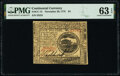 Colonial Notes:Continental Congress Issues, Continental Currency November 29, 1775 $4 PMG Choice Uncirculated 63 EPQ.. ...