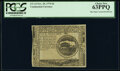 Continental Currency November 29, 1775 $4 Blue Paper Counterfeit Detector Note PCGS Choice New 63PPQ