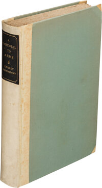 Ernest Hemingway. A Farewell to Arms. New York: Charles Scribner's Sons, 1929. First edition, <