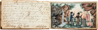 """[Stammbuch, """"book of friends"""" or """"album book""""]. Salzwedel, 1807-1817 (most entries dated between 180..."""