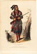 Books:Prints & Leaves, [Thomas L. McKenney and James Hall]. Hand-Colored Portrait TUKO-SEE-MATHLA, A Seminole Chief from History of...