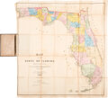 Books:Maps & Atlases, [Pocket Map]. Columbus Drew. Map of the State of Florida, Showing the Progress of the Surveys from the Annual Repo...
