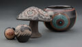 American Indian Art:Pottery, Four Southwest Blackware Items ... (Total: 4 )