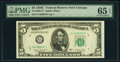 Small Size:Federal Reserve Notes, Fr. 1964-G*; H $5 1950C Federal Reserve Notes. PMG Graded ...