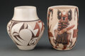 American Indian Art:Pottery, Two Hopi Polychrome Jars... (Total: 2 )