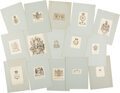 Books:Fine Press & Book Arts, [Bookplates]. Collection of Over Sixty Royal or Noble Bookplates. [Various Places, No Dates, Ca. eighteenth- through ninetee...