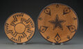 American Indian Art:Baskets, Two Apache Coiled Items... (Total: 2 )