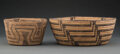 American Indian Art:Baskets, Two Pima/Papago Coiled Bowls... (Total: 2 )