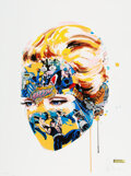 Prints & Multiples, Sandra Chevrier (b. 1983). Dark Heart (Hand-Finished), 2015. Screenprint in colors with collage and watercolor hand-embe...