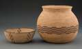 American Indian Art:Baskets, Two Southwest Coiled Basketry Items... (Total: 2 )