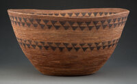 A Large Yokuts Coiled Bowl