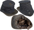 Militaria:Helmets, Very Fine Example of a Civil War Enlisted Man's Forage Cap with Original Insignia.. ...