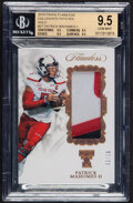 Football Cards:Singles (1970-Now), 2018 Panini Flawless Patrick Mahomes II (Collegiate Patches) #P-PM BGS Gem Mint 9.5 - #'d 2/10 - Pop One!...