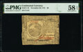Colonial Notes:Continental Congress Issues, Continental Currency November 29, 1775 $6 PMG Choice About Unc 58 EPQ.. ...