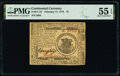 Colonial Notes:Continental Congress Issues, Continental Currency February 17, 1776 $1 PMG About Uncirculated 55 EPQ.. ...
