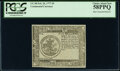 Continental Currency February 26, 1777 $5 Blue Paper Counterfeit Detector Note PCGS Choice About New 58PPQ