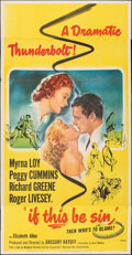 Movie Posters:Romance, If This Be Sin (United Artists, 1950). Folded, Very Fine-....