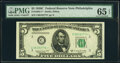Small Size:Federal Reserve Notes, Fr. 1964-C*; D* $5 1950C Federal Reserve Star Notes. PMG Gem Uncirculated 65 EPQ.. ... (Total: 2 notes)