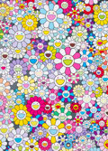 Prints & Multiples, Takashi Murakami (b. 1962). Champagne Supernova Multicolor + Pink and White Stripes, 2013. Offset lithograph in colors o...