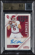 Football Cards:Singles (1970-Now), 2018 Contenders Draft Picks Baker Mayfield (Game Day Ticket) #24 BGS Gem Mint 9.5, Auto 10....