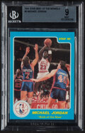 Basketball Cards:Singles (1980-Now), 1986 Star Company Best of the New/Old Michael Jordan #2 BGS Mint 9. ...