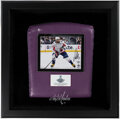 Hockey Collectibles:Others, 2018 Alexander Ovechkin Signed Shadow Box Display With Arena Seat Cushion. ...