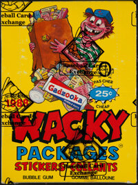 """1988 O-Pee-Chee """"Wacky Packages Stickers"""" Box With 36 Unopened Packs"""