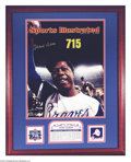 Autographs:Others, Baseball Autograph Hank Aaron Hand Signed Limited Edition ...