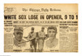 Baseball Collectibles:Publications, Baseball (2) Original 1919 Chicago Tribune World Series ... (2 items)